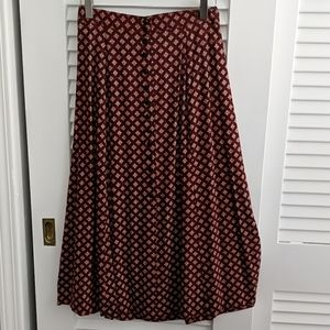 VINTAGE Rayon Button-front skirt. Size 2-4.